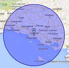 Zones d'intervention ramonage à Lorient et dans le Morbihan
