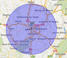 Zones d'intervention Ramonage à Lyon et dans le Rhône