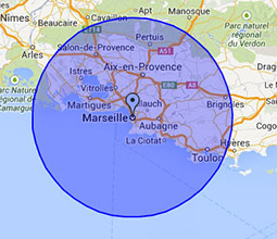 Zones d'intervention Ramonage à Marseille et dans les Bouches-du-Rhône