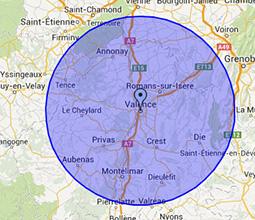 Zones d'intervention ramonage à Valence et dans la Drôme